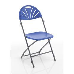 Titan Linking Fan Back Folding Chair - Blue Ref TCFAFC2LK-B
