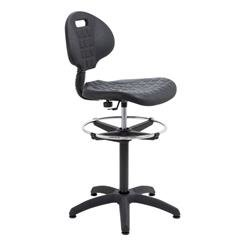 Factory Chair - 1 Lever Fixed Back - Black Ref CH0504+AC1042