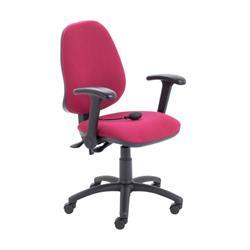 Calypso Ergo Chair With Folding Arms - Claret Ref CH2810CL+AC1082