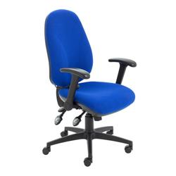 Maxi Ergo Chair With Folding Arms - Royal Blue Ref CH0808RB+AC1082
