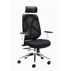 Maldini High Back Mesh Chair - White Frame Ref CH0782WH