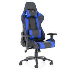 Ascari Racing Blue and Black Bonded Leather Chair Ref EX000207