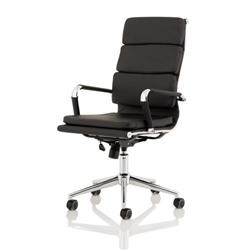 Hawkes Black PU Chrome Frame Executive Chair Ref EX000219
