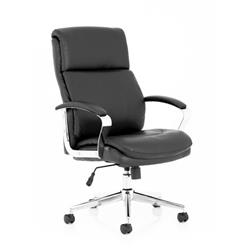 Tunis Black Bonded Leather Executive Chair Ref EX000210