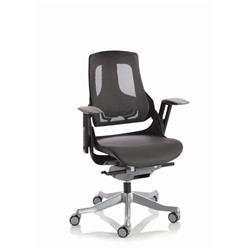 Zure Executive Chair Black Frame Charcoal Mesh Ref EX000220