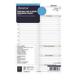 Filofax Refill Day Per Page A5 2021 21-68519