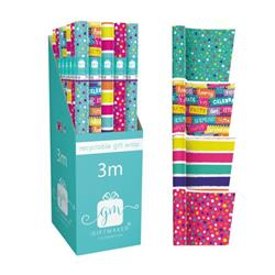 Giftmaker Teen Mix Gift Wrap (Pack of 42) Y8GM123G