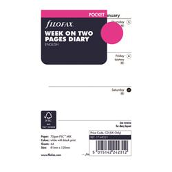 Filofax Refill Week to View Pocket 2021 21-68221