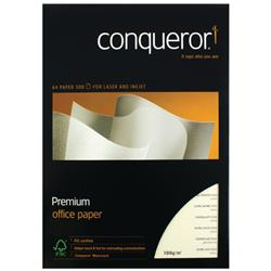 Conqueror Watermarked A4 Paper 100gsm Cream (500 Pack) CQX0324CRNW