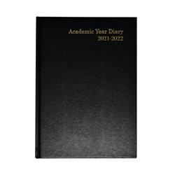Academic Diary Week To View A5 Black 2021-2022 KF3A5ABK21