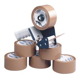 Tape Dispenser With 6 Rolls Polypropylene Tape 50mmx66m (Pack of 6) 9761Bdp01