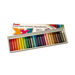 Pentel Oil Pastels Set of 12 Assorted Large (Pack of 24) GHT-24