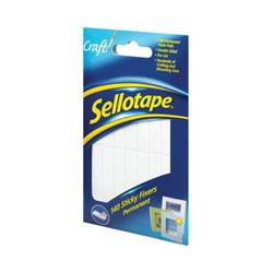 Sellotape Sticky Fixers Permanent 12mmx25mm (Pack of 140) 1445422