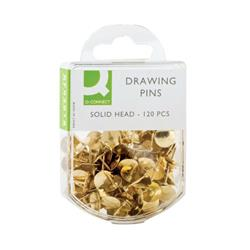 Q-Connect Drawing Pins Brass (Pack of 1200) KF02018Q