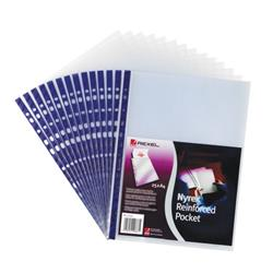 Rexel Quality Pocket A4 Blue Spine Embossed (Pack of 25) 12233