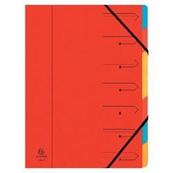 Exacompta Europa 7-Part Organiser 400gsm Pressboard A4 Red 5221Z