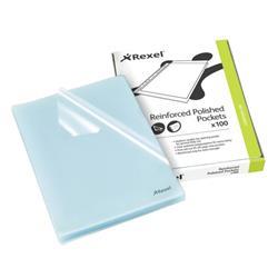 Rexel Cut Flush Folder Polypropylene A4 Clear (Pack of 100) 12215
