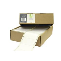 Q-Connect Computer Label 102x49mm 1 Across The Web 6 Per Fanfold White (Pack of 6000) KF102491