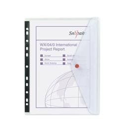 Snopake Polyfile Ring Binder Wallet A4 Clear (Pack of 5) 12566