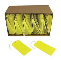 Strung Tags 120x60mm Yellow (Pack of 1000) KF01626