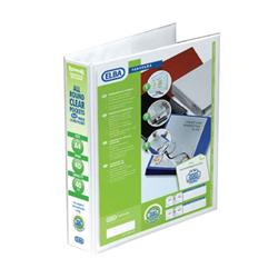 Elba Panorama 40mm 4 D-Ring Pres Binder A4 Wht (Pack of 10) 400001300