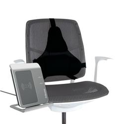 Fellowes Professional Series Ultimate Back Support Black 8041801 - Free Wireless Charger Offer