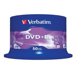 DVD+R Spindle Verbatim - 4,7 Gb - 16x - conf. 50