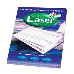 Etichette adesive Copy Laser Tico - con margini - 70x50,8 mm - 15 etichette/ff - 100 fogli