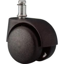 Ruote per sedie Unisit - Per pavimenti duri - diametro 11 mm e lunghezza 23 mm -nero - ACCRUC5 (conf.5)