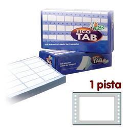 Etichette a modulo continuo Tico - 1 pista - 107x74 mm - 4 etichette/ff - 500 fogli