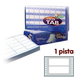 Etichette a modulo continuo Tico - 1 pista - 100x36,2 mm - 8 etichette/ff - 500 fogli