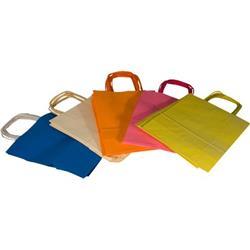Borse in carta colorata Rex Sadoch - assortiti pastello - 16x8x21 cm - tinta unita - SDF16LIT - conf. 25
