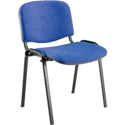Sedia visitatore Dado Unisit - acrilico - blu - conf. 4 - D5S/4/EB