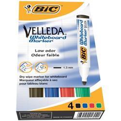 Marcatori per lavagne VELLEDA® 1701 Bic Ecolutions - colori assortiti - 1.5 mm - conf. 4