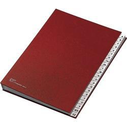 Classificatore alfabetico Fraschini - A/Z - rosso - A4