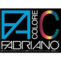 Fabriano Colore - liscio/ruvido - 24x33 cm - 220 g/mq - 25 fogli - assortiti