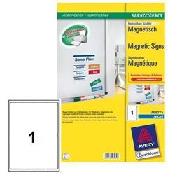 Etichette magnetiche Avery - A4 - 1 etichetta/ff - 5 fogli