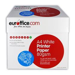Carta A4 Euroffice - per stampanti e fotocopiatrici - bianca - 80g/mq - conf. 5 risme