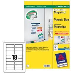 Etichette magnetiche Avery - 78x28 mm - 18 etichette/ff - 5 fogli