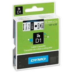 Nastro Dymo D1 standard - 12mm x 7mt - nero/bianco - S0720530