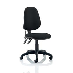 Trexus Lumbar High Back Operators Chair Back H500mm W460xD460xH440-580mm Charcoal Ref SP9080CH