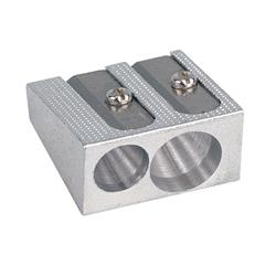 5 Star Office Sharpener Metal 2 Hole 8mm Diameter [Pack 1]