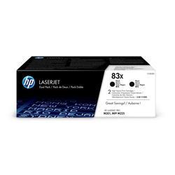 HP 83X (Yield 2200 Pages) High Yield Black Original LaserJet Toner Cartridge (Dual Pack) - Up to £100 Cashback