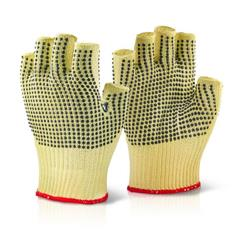 Click Kutstop Kevlar Fingerless Dotted Glove 08 Ref KS18 [Pack 10]
