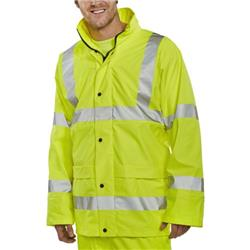 BSeen High-Vis Super B-Dri Breathable Jacket 2XL Saturn Yellow Ref PUJ471SYXXL