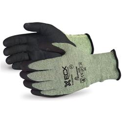 Superior Glove Emerald Cx Kevlar Wire-Core Nitrile Palm 10 Black Ref SUS13CXPNT10
