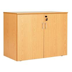 Workmode Double Door 720mm Desk End Cupboard - Beech - ZSU710DDBCH