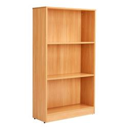 Workmode 1400mm Bookcase with 2 Shelves - Beech Ref - ZIMBC1400BCH
