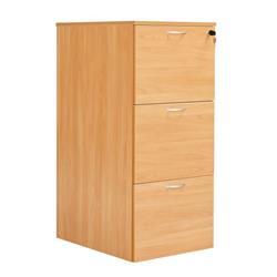 Workmode 3 Drawer Filing Cabinet - Beech - SUFC3BCH
