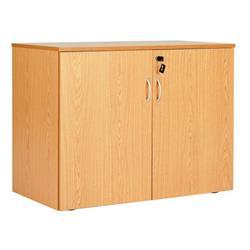 Workmode Double Door Desk High End Cupboard - Beech - ZSU70825DDBCH